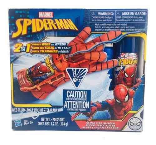 Lanzador Spiderman 2 En 1 Guante Que Lanza Telaraña O Agua