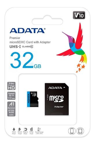 Memoria Micro Sdxc 32gb Adata Clase 10 Video Full Hd V10