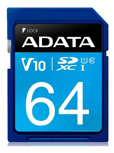 Memoria Sd 64gb Adata Clase 10 Video Full Hd V10 Camara