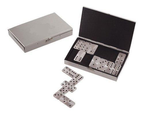 Mini Estuche De Domino De Aluminio