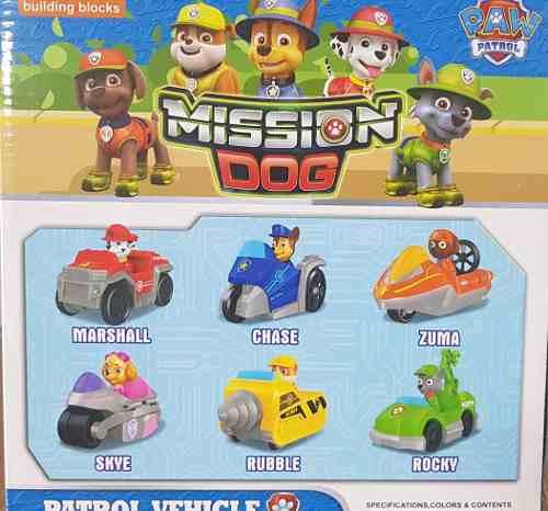 Mission Dogs Raw Patrol Play Set 6pz Patrulla Canina
