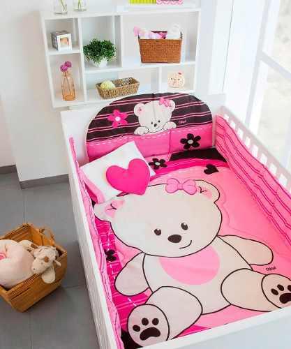 Oferta Set De Edredon Cuna Bebe Baby Pink Chiquimundo