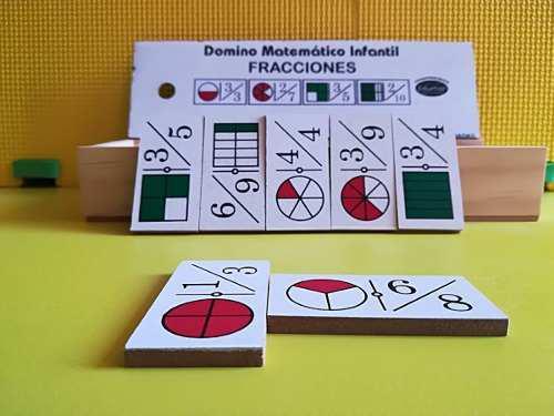 Paquete Dominó De Fracciones, Multiplicaciones, Divisiones