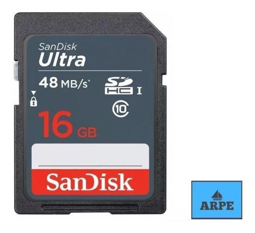 Sandisk Ultra, Sd Hc Clase 10, Para Camara Canon O Nikon