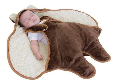 Saquito Para Bebe Con Borrega Baby Bag Osito Bc19
