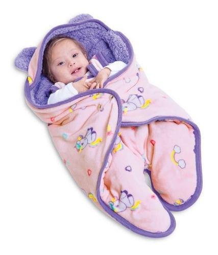 Saquito Para Bebe Con Borrega Baby Bag Unicornio Mini Bc19