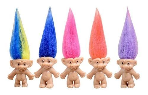 Set De 5 Mini Trolls Russ O Duendes Familia Completa + Envio