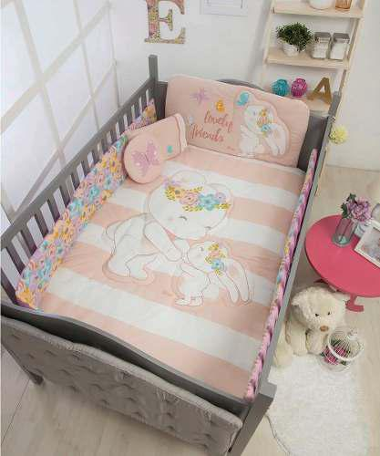 Set De Edredon Cama Cuna Corral Bebe Sweet Baby Chiquimundo
