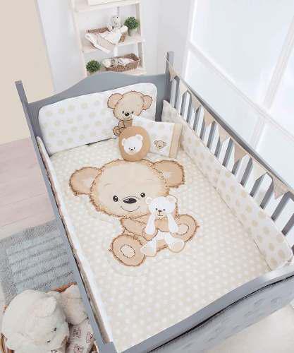 Set De Edredon Para Cuna Bebe Oso Teddy Shower Chiquimundo