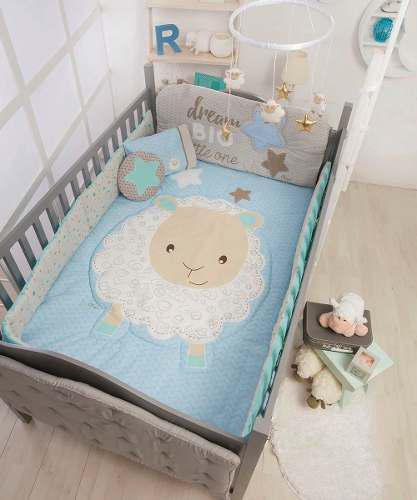 Set De Edredon Para Cuna De Bebe Baby Dreams Borreguito