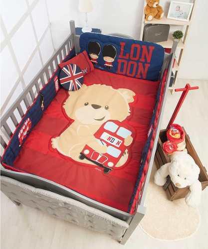 Set De Edredon Para Cuna De Bebe Baby London Chiquimundo