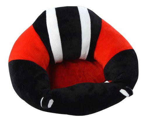 Soporte Mini Para Bebé Aprender A Sentarse Negro Con Rojo I