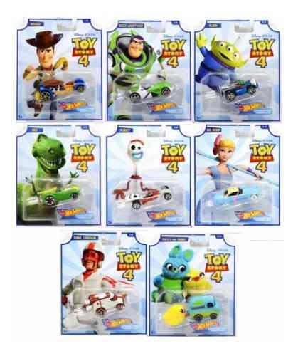 Toy Story 4 Colección Hot Wheels Serie De 8 Piezas