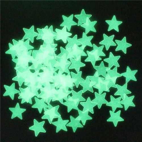 100 Estrellas Fluorescentes Luminosas 3cm Fosforecentes