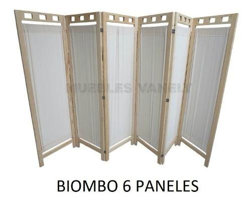 Biombo De Madera Elegante Y Practico 7 Paneles-envio Gratis