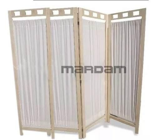 Biombo De Madera Mampara Practico 4 Paneles Mardam Envío