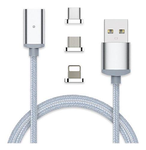Cable Magnetico Reforzado 3-1 Carga Rapida Voz Datos iPhone