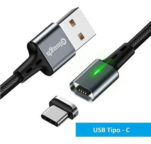 Cable Magnetico Usb Tipo C Carga Rapida 3.0 Cargador Y Datos