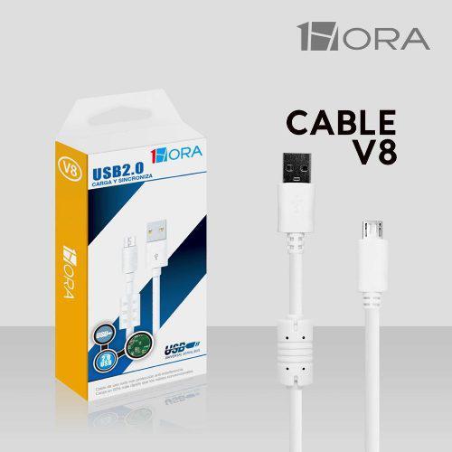 Cable Micro Usb V8 De 1.50 Metros Stelau, Carga Y Pasa Datos
