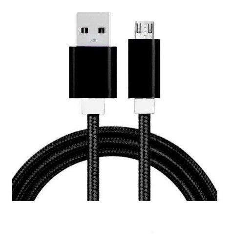 Cable Reforzado Micro Usb V8 Nylon 1.50m En Carrete Colores