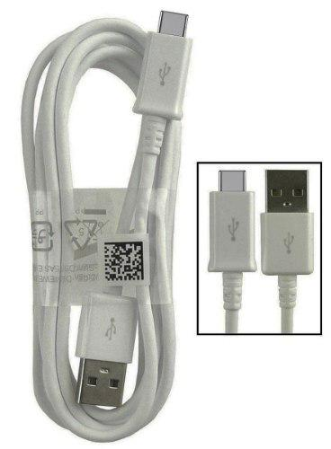 Cable Usb Tipo C Blanco Samsung Dispositivo Carga Rapida 120
