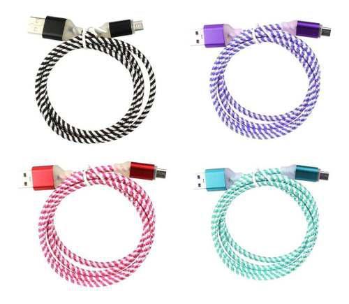 Cable Usb Xh-v8-1686 Carga Y Datos V8 Diseño Caramelo