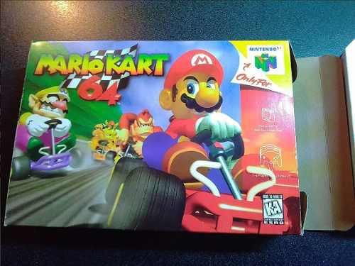 Caja Y Manual Custom Para Juego Mario Kart Nintendo 64 Hgmx