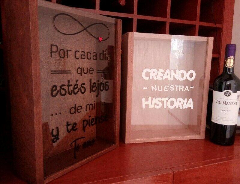Cajas para corchos o Alcancias de Madera
