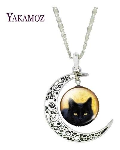 Collar Amuleto Gato Negro Pentagrama O Mago