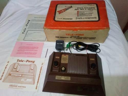 Consola Videojuego Tele-pong En Caja Años 70s. No Atari.
