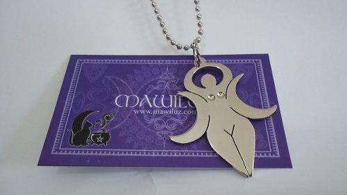 Dije Triple Diosa Lunar Mawiluz Wicca Celta Bruja
