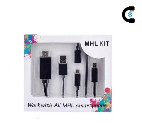 Kit Mhl Cable Adaptador Micro Usb V8 A Hdmi