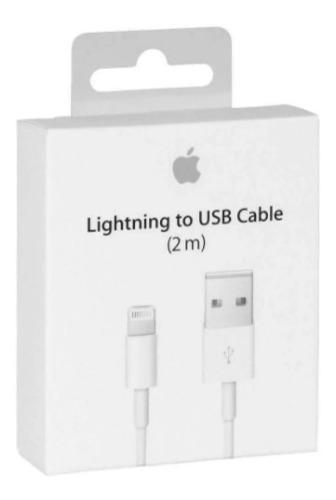 Lote Con 10 Cables Cargador Lightning Para iPhone 6,7,8 X 2m