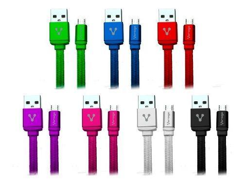 Lote De 10 Cables Vorago Cab-113 Para Carga Y Datos Usb A