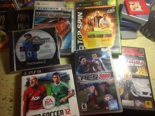 Lote De Videojuegos Psp Ps3 Ps2 Xbox Clásico