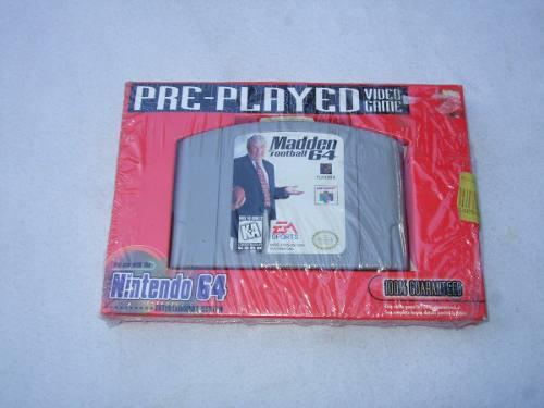 Madden Football 64 Juego Nintendo 64 Nuevo Y Sellado