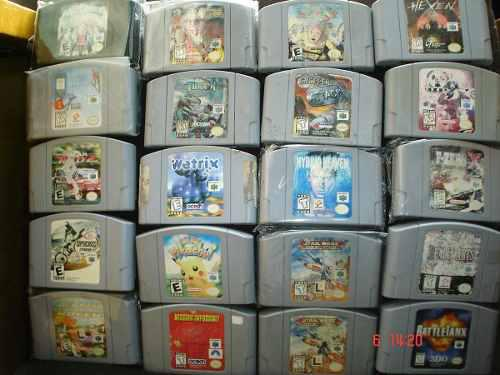 Nintendo 64 Paquete 5 Juegos Pokemon Donkey Perfect 4a N64