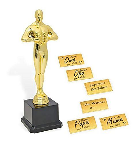 Personalizada Estatuilla Premio Oscar Hollywood 24cm