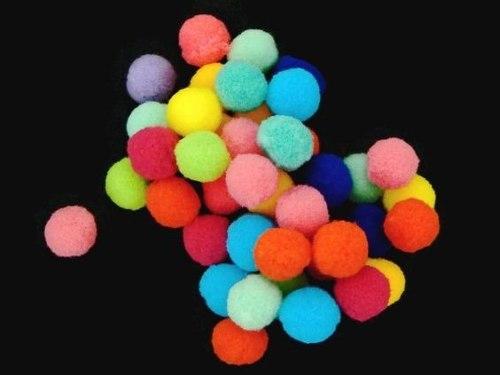 Pompones De Colores 10mm Borlas Collares 100 Pzs +envio