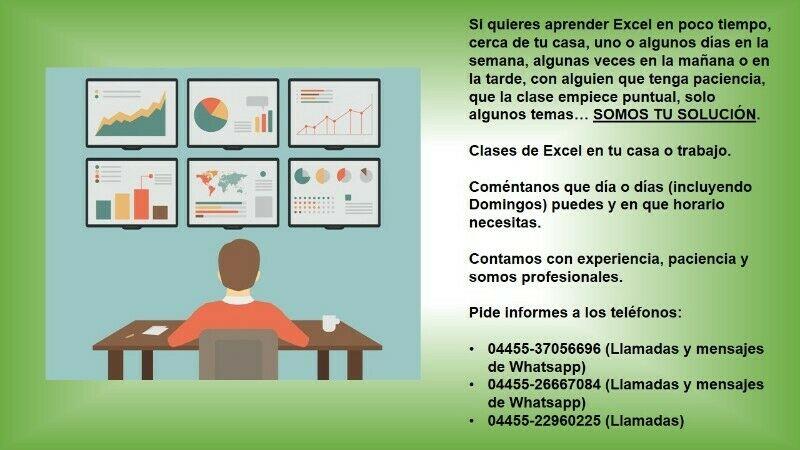 Puedes aprende Excel con profesores de experiencia y