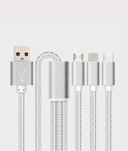 Pulpo 3 En 1 Cable Usb Reforzado V8 Micro Usb iPhone Tipo C