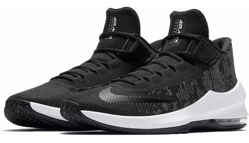 Tenis Nike Air Max Infuriate 2 Mid Negro Hombre Aa