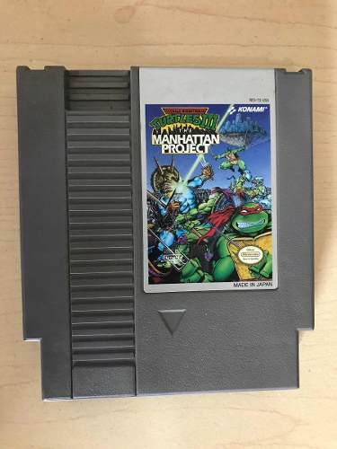 Turtles Iii Manhattan Project - Juego De Nintendo Nes