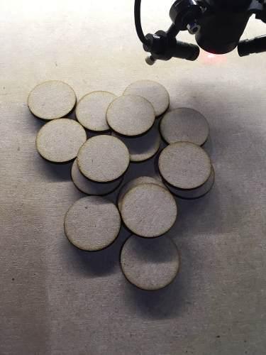 100 Piezas Círculos De 5 Cm Diámetro. De Mdf 3mm