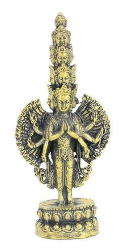8 Cm Estatua De Buda De Bronce Avalokitesvara Bodhisattva