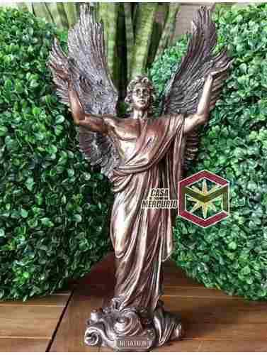 Angel Metatron De 37cm Acabado En Bronce