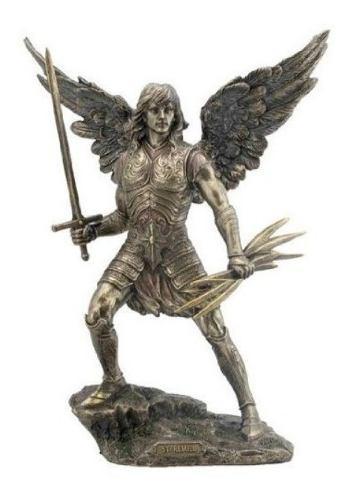 Arcangel Remiel Acabado En Bronce De 34cm