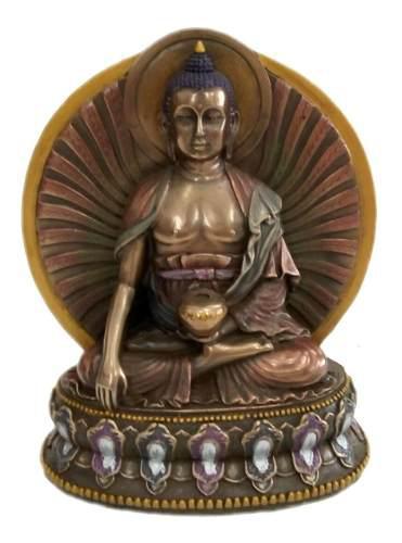 Buda Sakyamuni Figura Escultura Meditación Budismo Tibet