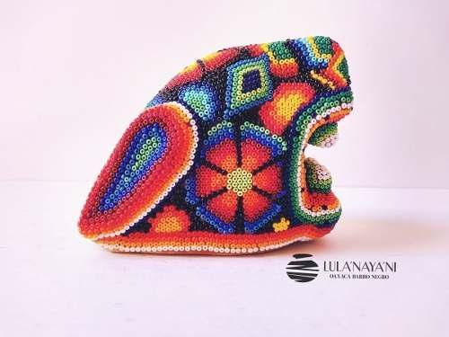 Cabeza De Jaguar / Arte Huichol