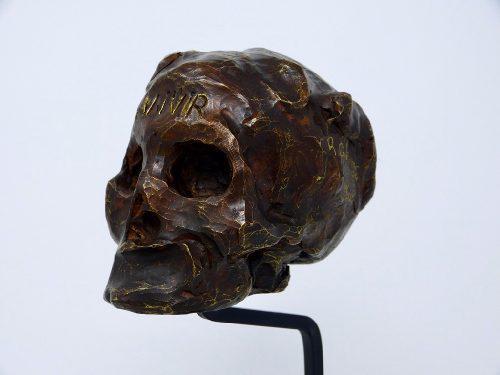 Calavera Escultura En Bronce De Roberto Cortazar 79/100
